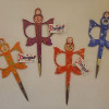 "Embroidery Scissors 4.3"" (11.0cm) Babushka[Orange]-223"